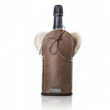 Etui isotherme à Champagne Cuir Marron Kywie