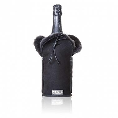 Etui isotherme à Champagne Daim Noir Kywie