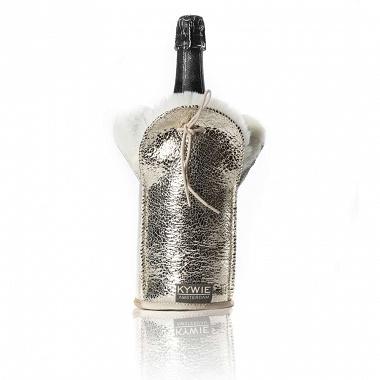Etui isotherme à Champagne Sparkle Cuir Argent Kywie