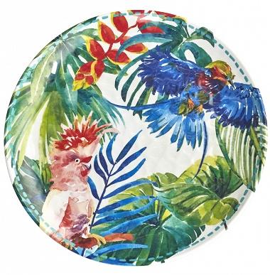Assiettes Tropical birds Les jardins de la Comtesse