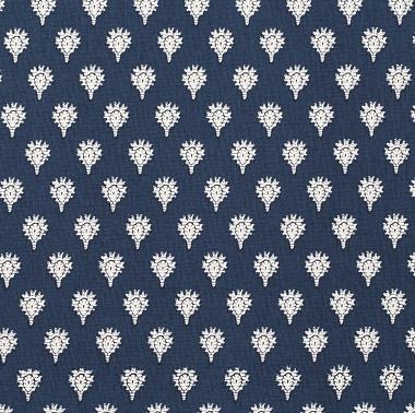 Tissu Indianaire Bleu Gènes Les Olivades