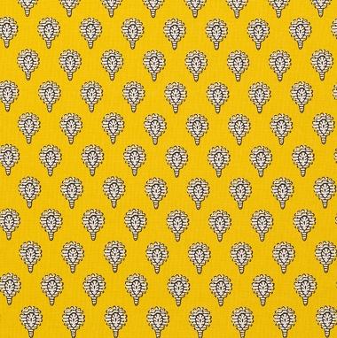 Tissu Indianaire Jaune Citron Les Olivades