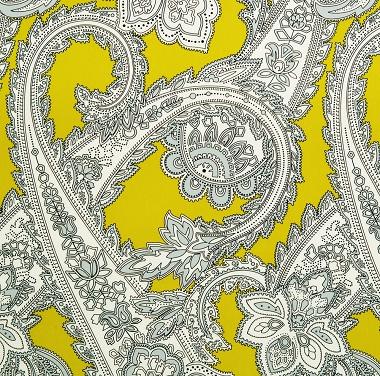 Tissu Kargil Jaune citron Les Olivades