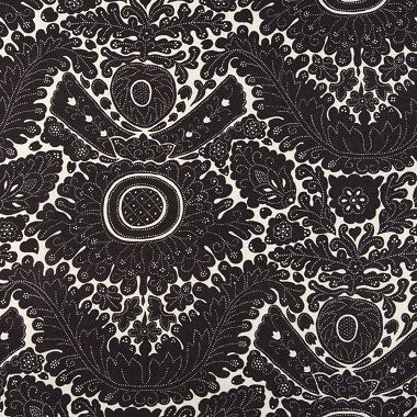 Tissu Mondragon Noir Puce Les Olivades