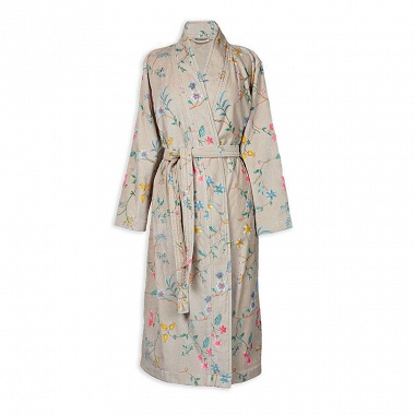 Peignoir Kimono Les Fleurs Kaki Pip Studio