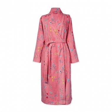 Peignoir Kimono Les Fleurs Rose Pip Studio