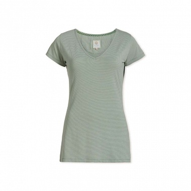 T-Shirt Stri­pers Light green Pip Studio