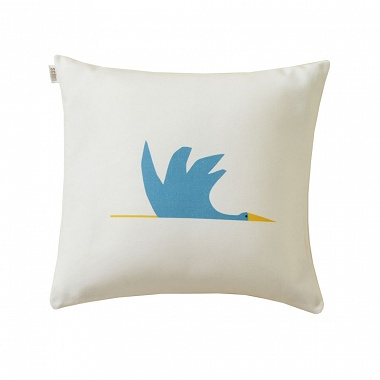 Coussin Cigogne Bleu Canard Scion Living