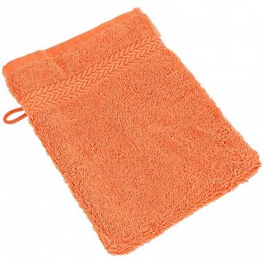 3Gants de toilette Luxury orange Sensei