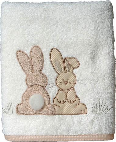 3Serviettes de toilette Pompon le lapin Sensei