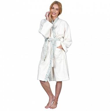 Peignoir Femme kimono Brocéliande Blanc Sensei