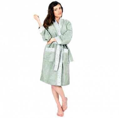 Peignoir Femme kimono Brocéliande Sauge Sensei