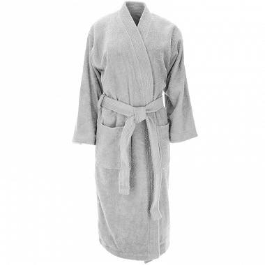 Peignoir kimono Luxury gris perle Sensei