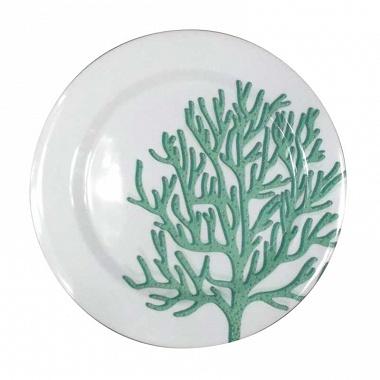 6assiettes corail bleu Sunvibes