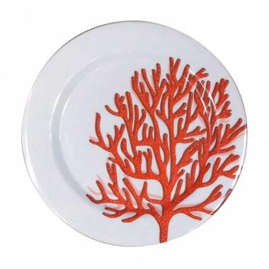 6assiettes corail rouge Sunvibes