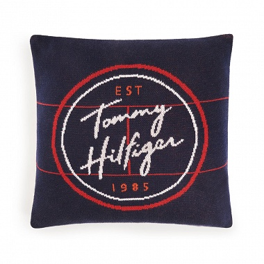 Coussin Circular Graphic Navy Tommy Hilfiger