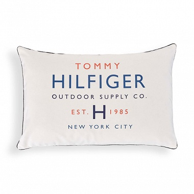 Coussin Folk deco Off White Tommy Hilfiger