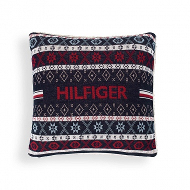Coussin Jacquard Deco Navy Tommy Hilfiger