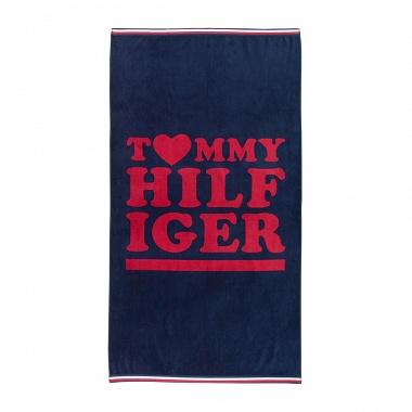 Drap de plage Love Tommy Navy Tommy Hilfiger