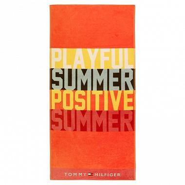 Drap de plage Playful Orange Tommy Hilfiger