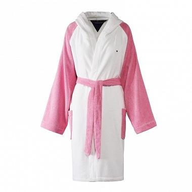 Peignoir Capuche Sweater Pink Tommy Hilfiger