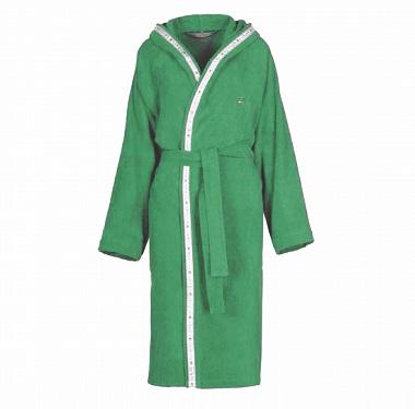 Peignoir capuche Timeless Verde Tommy Hilfiger
