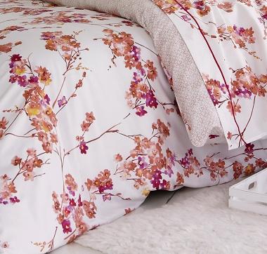 Housse de couette Blossom rose Tradilinge