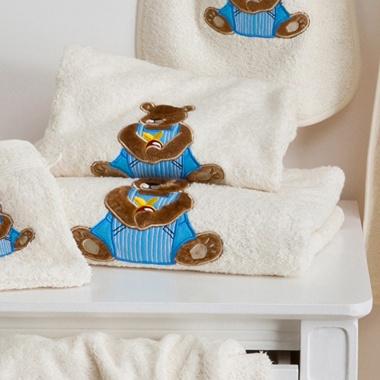 Serviettes de toilette Ourson Boy écru Tradition des Vosges