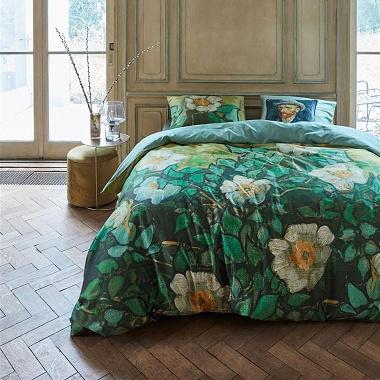 Parure de couette Roses sauvages vert Van Gogh