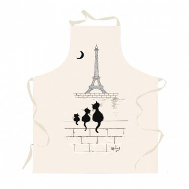 Tablier Chats Tour Eiffel écru Winkler