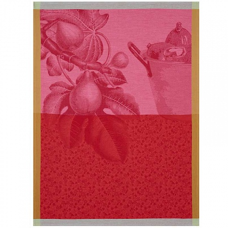 Torchon fruits du verger coulis 60×80 cm Jacquard Français