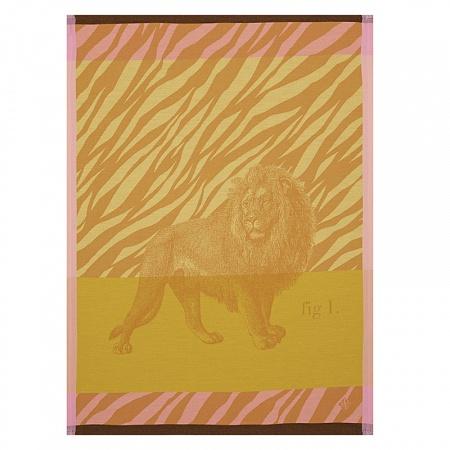Torchon planche animalière Savane soleil 60×80cm Jacquard Français