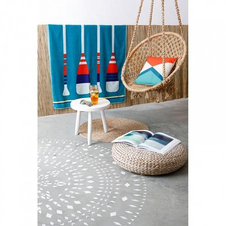 Drap de plage Paddle turquoise 100×180cm Jean Vier