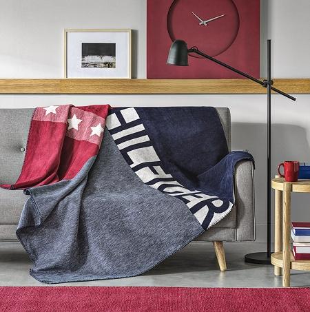 Plaid State Grey 150×200cm Tommy Hilfiger